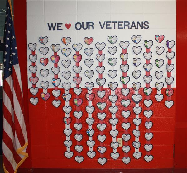 Veterans Day Community Hearts