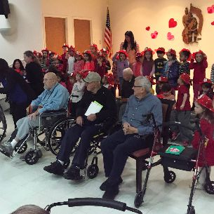 SSS Preschoolers Visit Firemen's Home for Valentine's Day