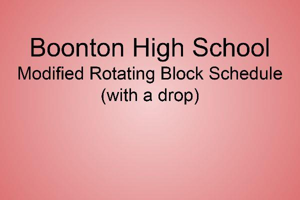BHS Rotating Block Schedule Presentation