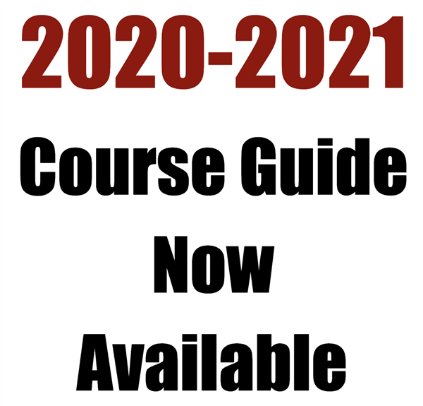 2020-2021 Course Guide Now Available